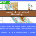 Atmospheric Rivers and National Weather Service Watches, Warnings, and Advisories Issued Over California 2007–2016