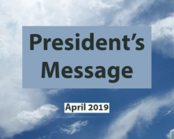 April 2019 President's Message