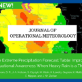 JOM: The Extreme Precipitation Forecast Table: Improving Situational Awareness When Heavy Rain is a Threat