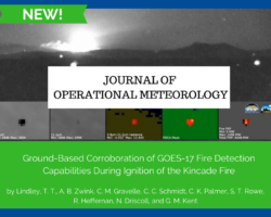 JOM: Ground-Based Corroboration of GOES-17 Fire Detection Capabilities During Ignition of the Kincade Fire