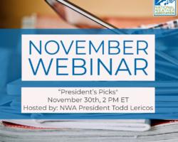 """November Webinar: """"President's Picks"""""""